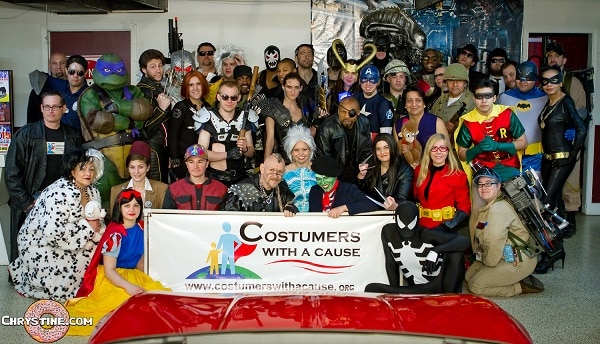 A huge variety of costumed characters were There
