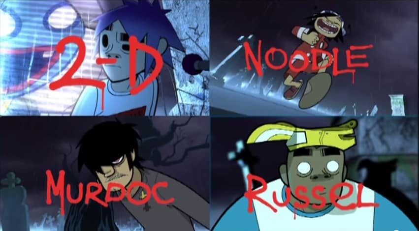 """The Gorillaz from 2001's """"Clint Eastwood"""""""
