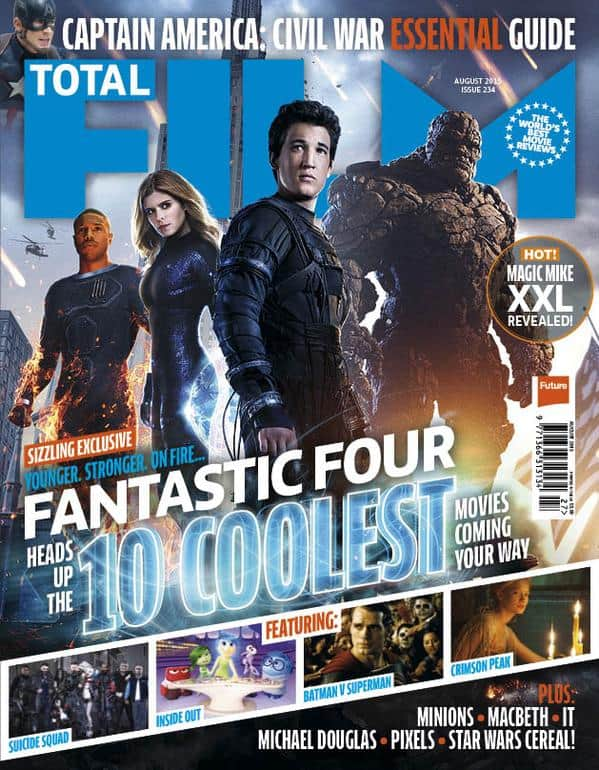Cast of the Fantastic Four reboot on the cover of this month's issue of Total Film magazine