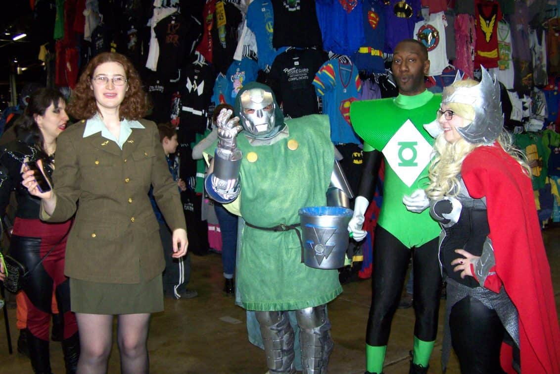 Cosplay covers a variety of costumes and techniques