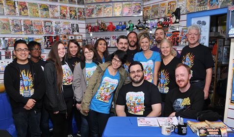 The Flying Colors Retailing Brigade from Free Comic Book Day (5/7/16)