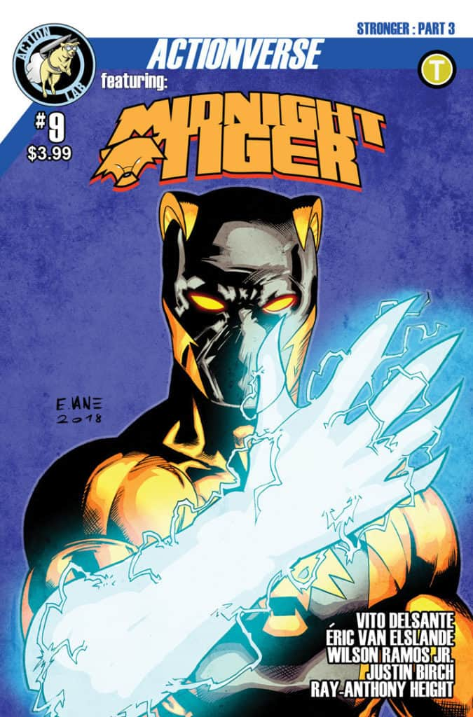 Actionverse featuring Midnight Tiger #9 Cover