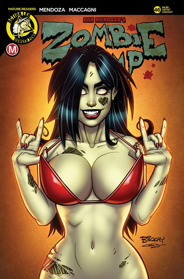 MR ACTION LAB ENTERTAINMENT ZOMBIE TRAMP ONGOING #18 HESS VAR