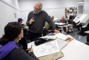 Joe Kubert at Kubert School
