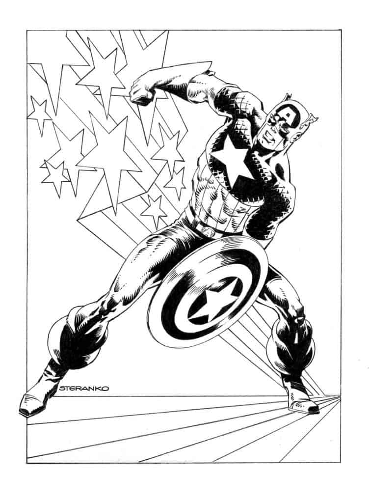 Captain America #1 - Variant Cover by Jim Steranko