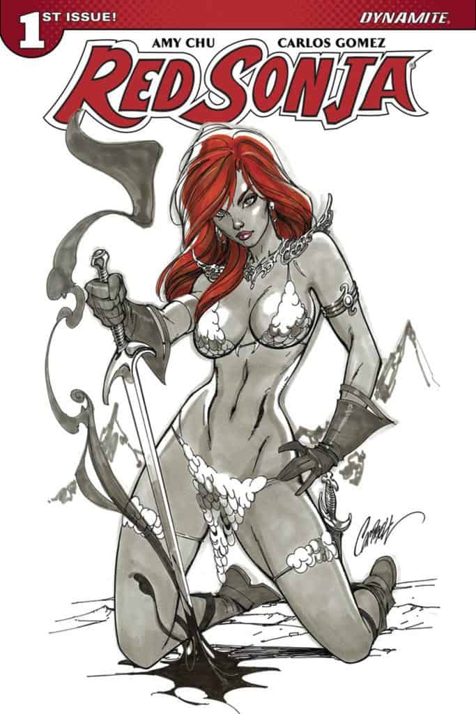 Red Sonja #1 – Cover B by J. Scott Campbell