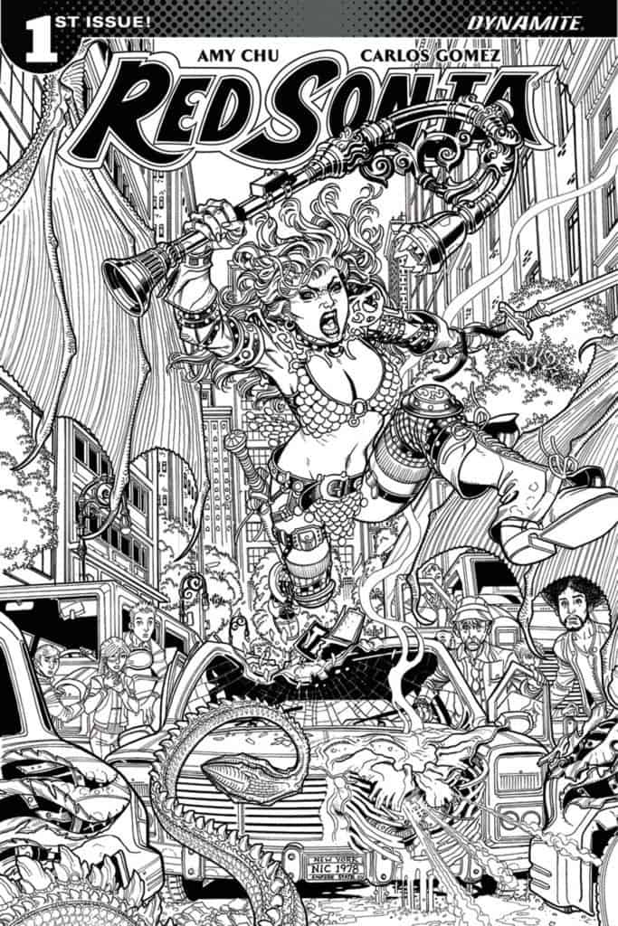Red Sonja #1 – Cover G – 1 in 10 b&w Variant by Nick Bradshaw