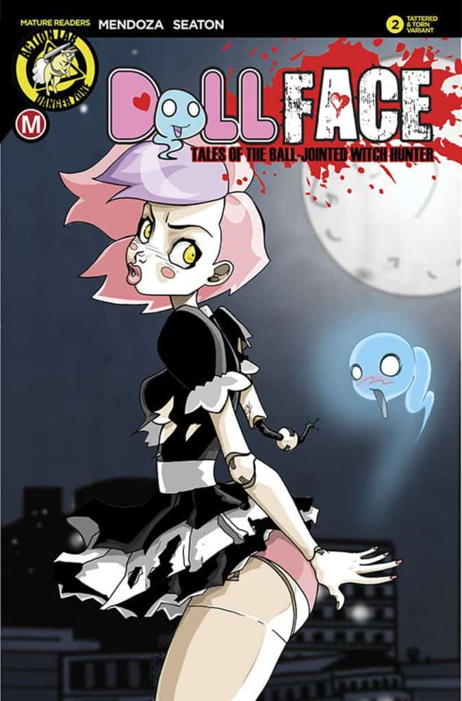 Dollface #2 – Cover D by Dan Mendoza (Tattered and Torn Variant)
