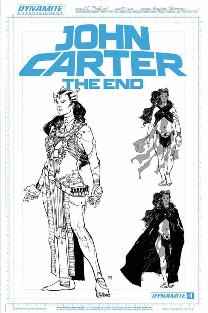 John Carter The End #1 – Cover F by Hayden Sherman (10 Copy Art Board Variant)
