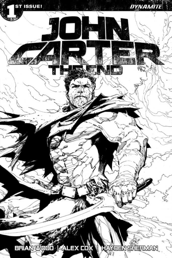 John Carter The End #1 – Cover J by Philip Tan (50 Copy B&W Variant)