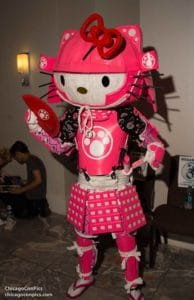 Chris Dimoff as #Samuraihellokitty at Dragon Con 2017