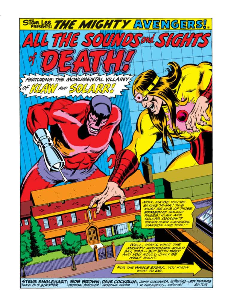 The Mighty Avengers all the sounds and sights of death