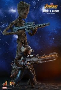 Teen Groot and Rocket by Hot Toys