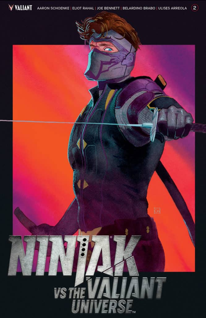 NINJAK VS THE VALIANT UNIVERSE #2 - Cover by Kevin Wada