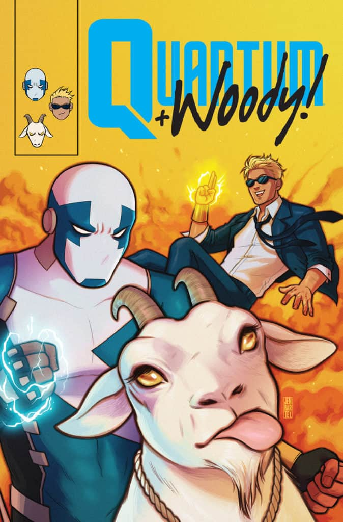 QUANTUM AND WOODY! (2017) #8 – Q&W Icon Variant by Jen Bartel