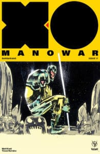 XO MANOWAR Cover B by JIM MAHFOOD