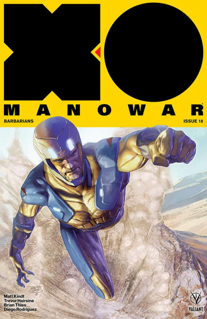 X-O MANOWAR #18 - X-O Manowar Icon Variant by Renato Guedes