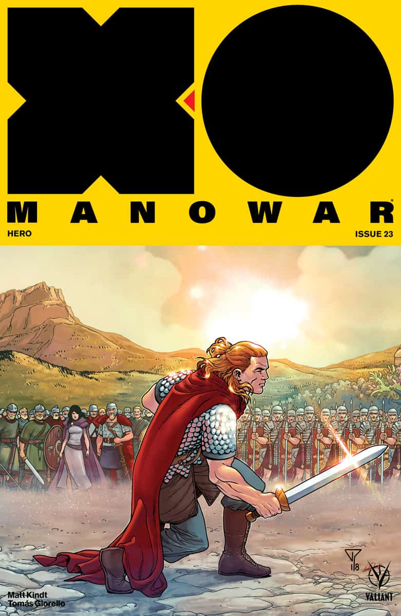 X-O Manowar #23 - Interlocking Variant by Francis Portela