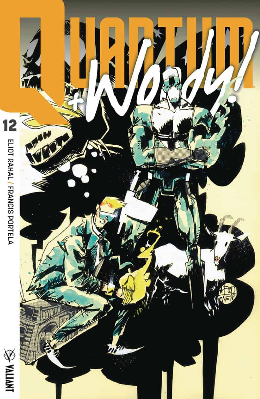 QUANTUM AND WOODY! (2017) #12 – Interlocking Variant by Jim Mahfood