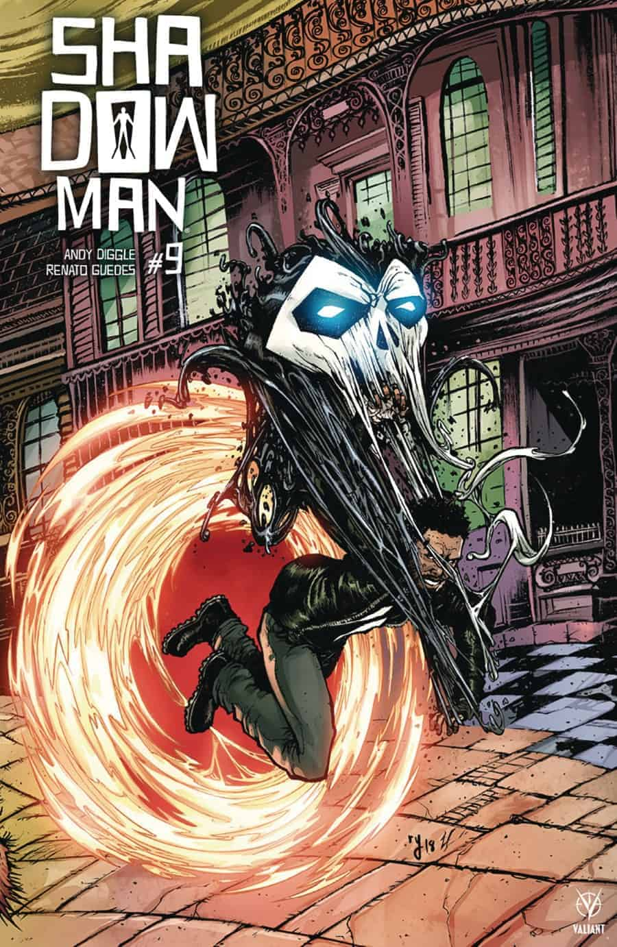 SHADOWMAN (2018) #9 - Interlocking Variant by Ryan Lee