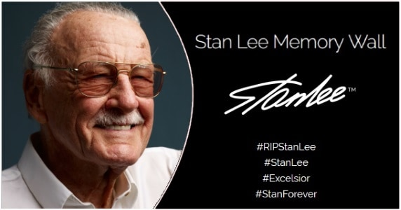 Stan Lee Memory Wall feature