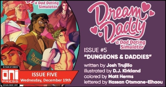 Dream Daddy #5 preview feature