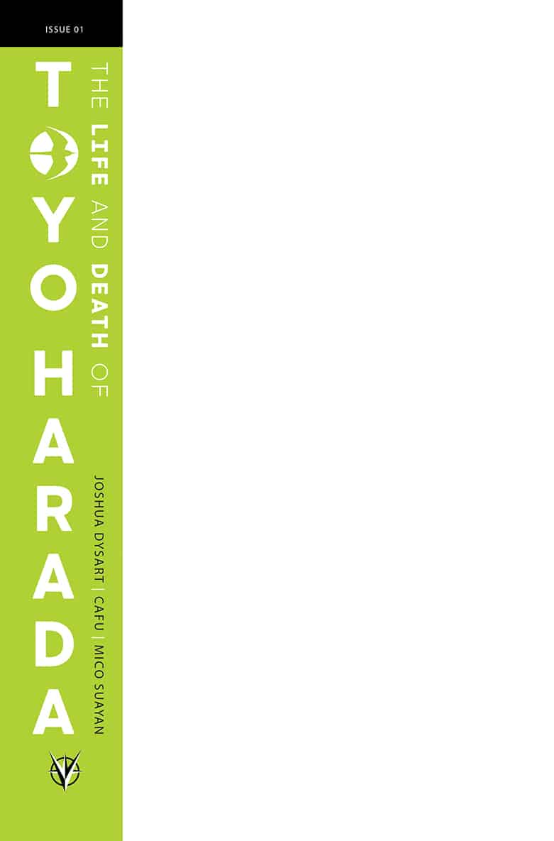 The Life and Death of Toyo Harada #1 - Blank Variant