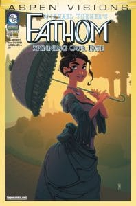 ASPEN VISIONS: FATHOM – SPINNING OUR FATE #1 - Cover B by Micah Gunnell