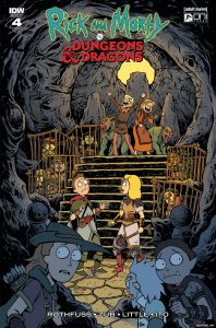 Rick and Morty vs. Dungeons & Dragons #4 - 1:20 Retailer Incentive Variant