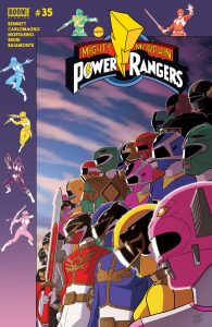 Mighty Morphin Power Rangers #35 - Preorder Cover