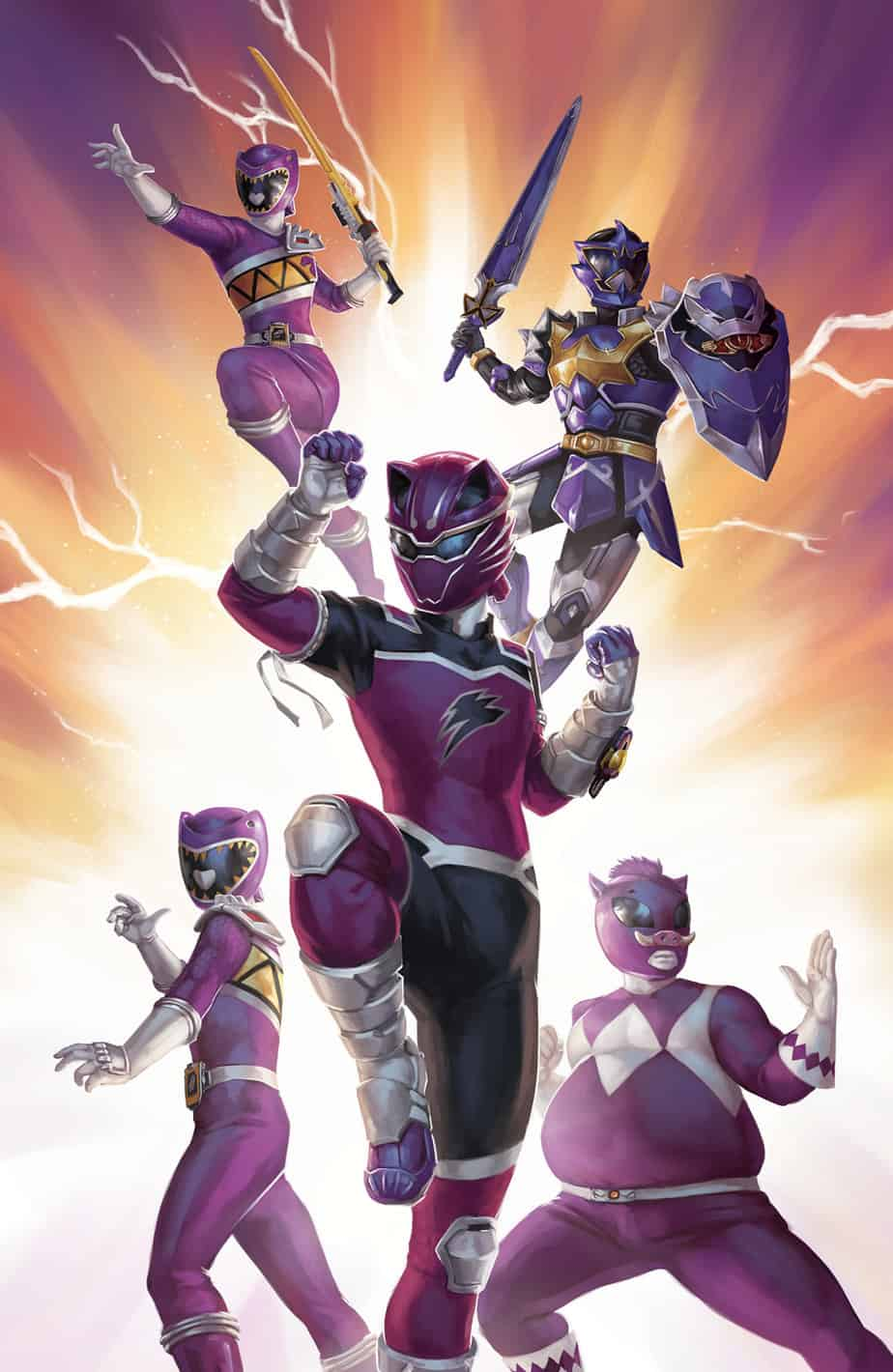 Mighty Morphin Power Rangers #35 - Incentive Cover