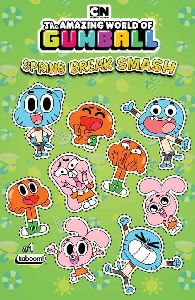 Amazing World of Gumball: Spring Break Smash #1 - Preorder Cover