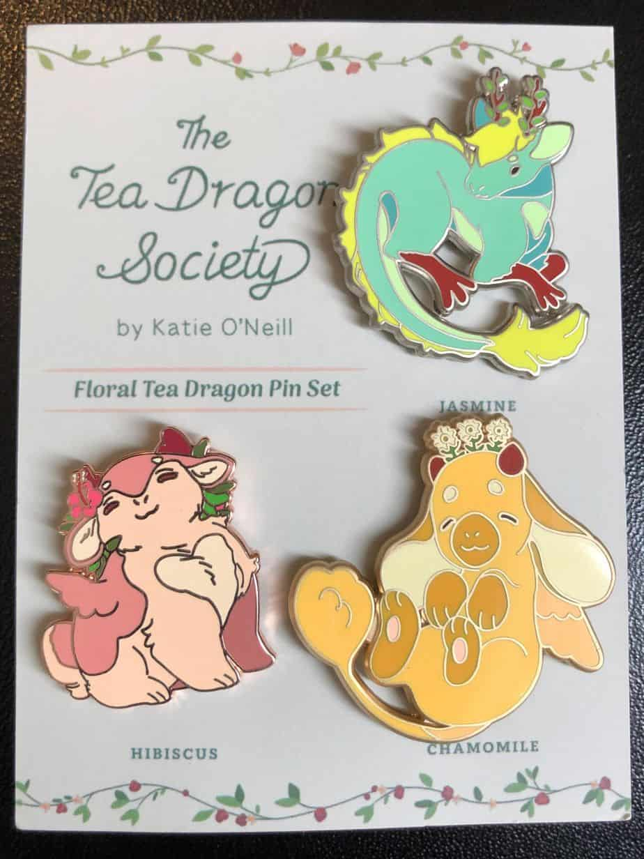 Floral Tea Dragon Pin Set for The Tea Dragon Society