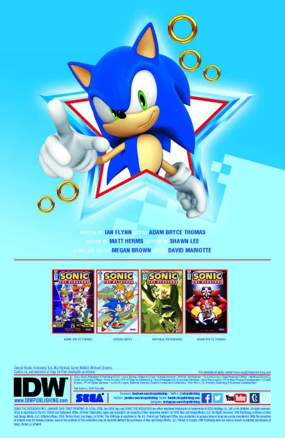 Sonic the Hedgehog #13 – preview page 1