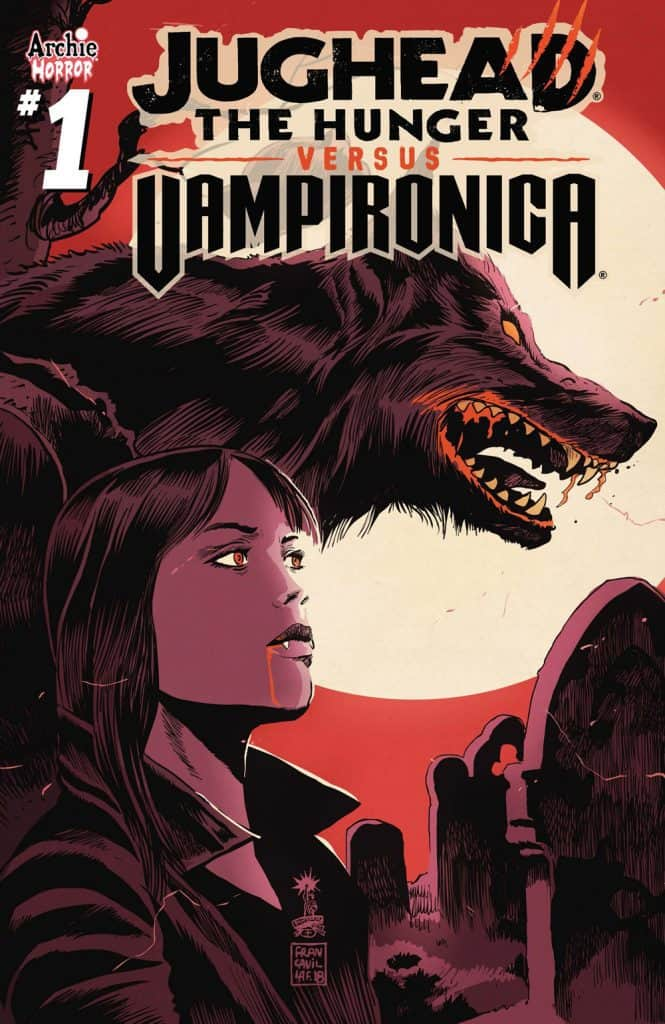 JUGHEAD: THE HUNGER VS. VAMPIRONICA #1 - Variant Cover by Francesco Francavilla