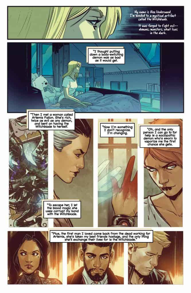 Witchblade #12 preview page 1
