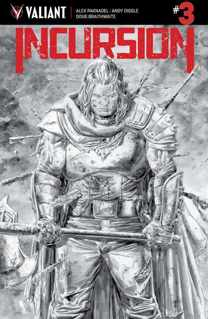 INCURSION #3 - B/W Cover