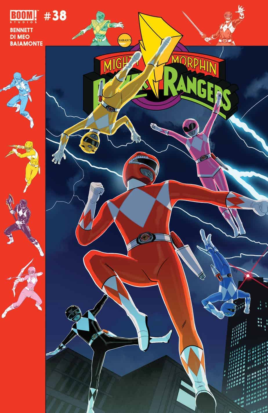 Mighty Morphin Power Rangers #38 - Preorder Cover