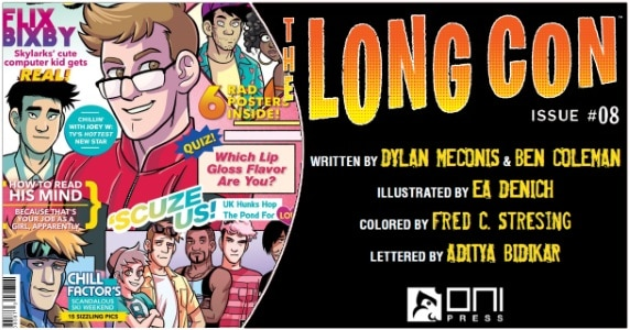 The Long Con #8 preview feature