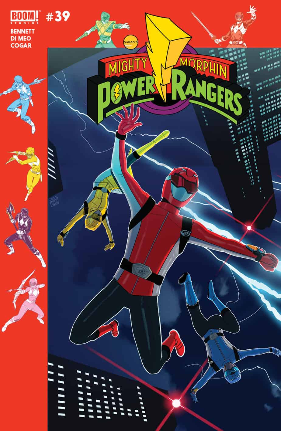 Mighty Morphin Power Rangers #39 - Preorder Cover