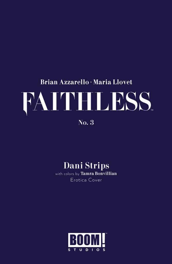 Faithless #3 - Erotica Censored Preorder Cover by Dani Strips w/ Tamra Bonvillain