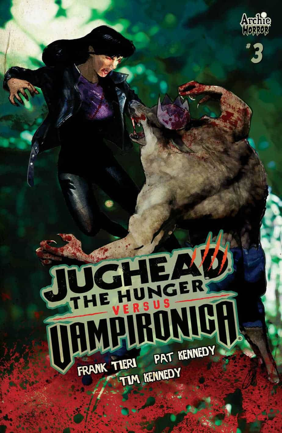 JUGHEAD: THE HUNGER VS. VAMPIRONICA #3 - Variant Cover by Cat Staggs