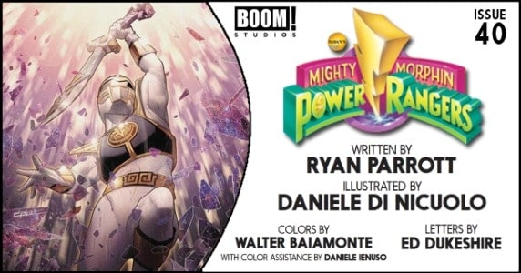 Mighty Morphin Power Rangers #40 preview feature