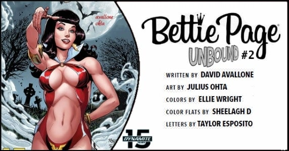 Bettie Page Unbound #2 preview feature