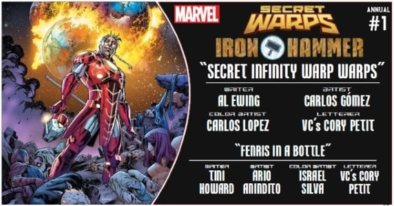 SECRET WARPS IRON HAMMER ANNUAL #1 preview feature