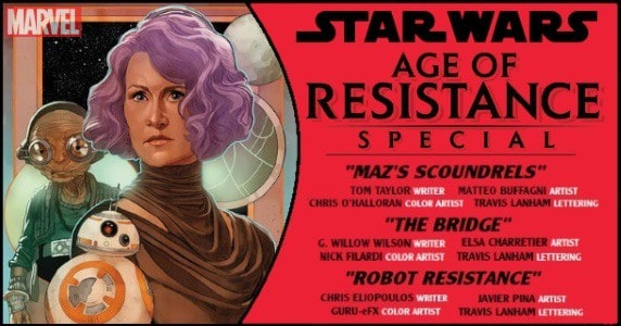 STAR WARS AGE OF RESISTANCE SPECIAL #1 preview feature