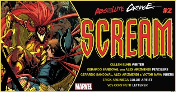 ABSOLUTE CARNAGE SCREAM #2 preview feature