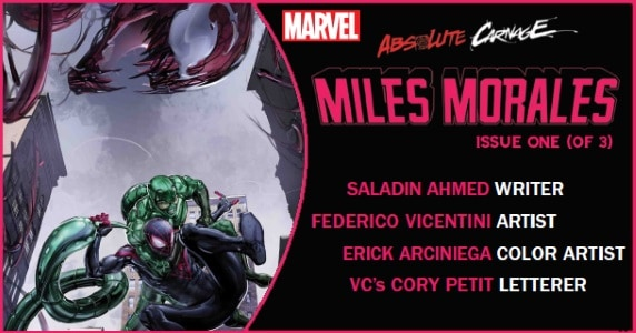 Absolute Carnage Miles Morales #1 preview feature