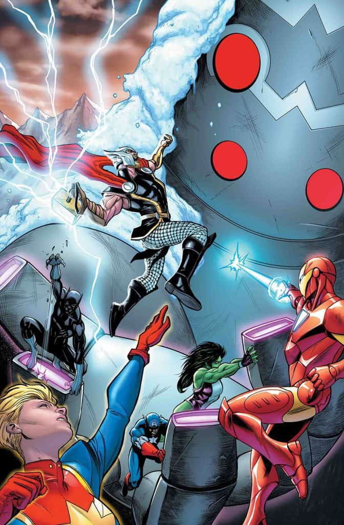 Avengers #23 - Main Cover by Stefano Caselli