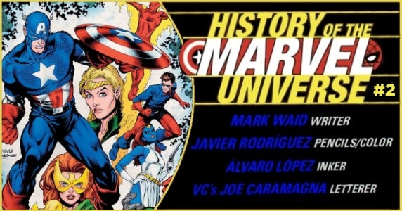 History of the Marvel Universe #2 preview feature